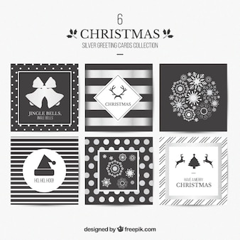 Серебряные рождественские открытки