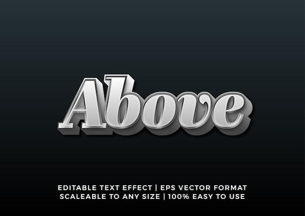 Серебряный хромированный 3d градиентный текстовый эффект