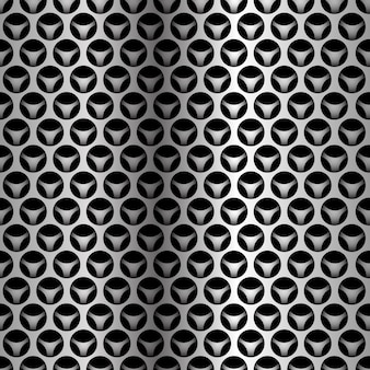 Silver circle mesh overlap seamless pattern