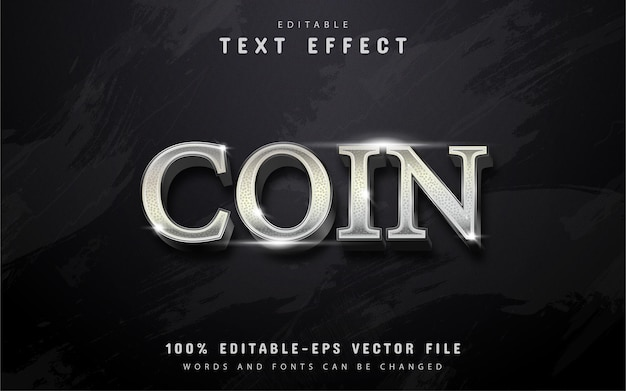 Silver coin text effect
