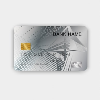 Silver credit card design. with inspiration from abstract.