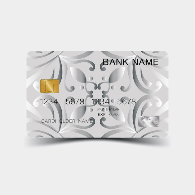 シルバーのクレジットカードデザイン