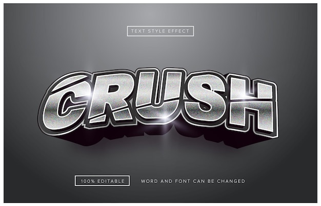 Silver crush 편집 가능한 텍스트 효과