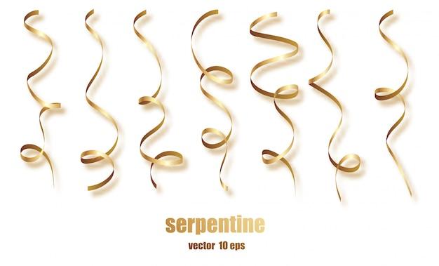 Silver curly ribbon serpentine confetti.