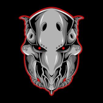 Silver cyber head
