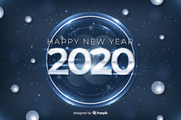 Silver design for new year 2020 event