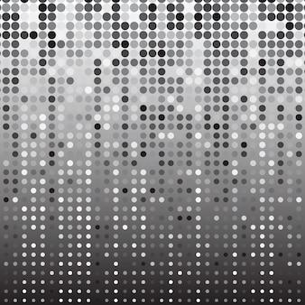 シルバードットハーフトーン抽象的な背景