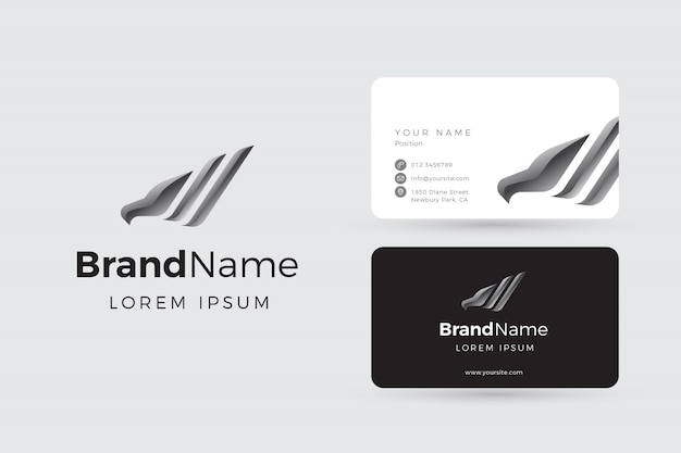 Silver eagle logo and business cards
