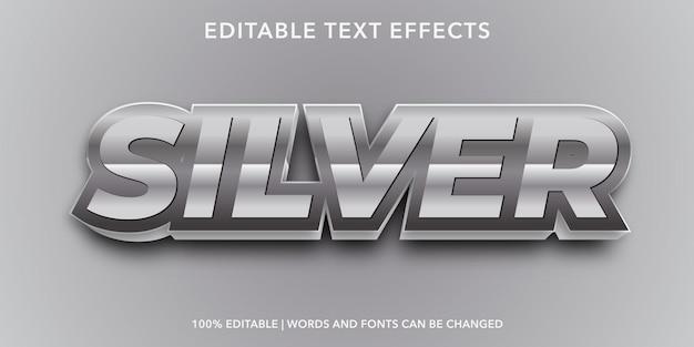 Silver editable text effect