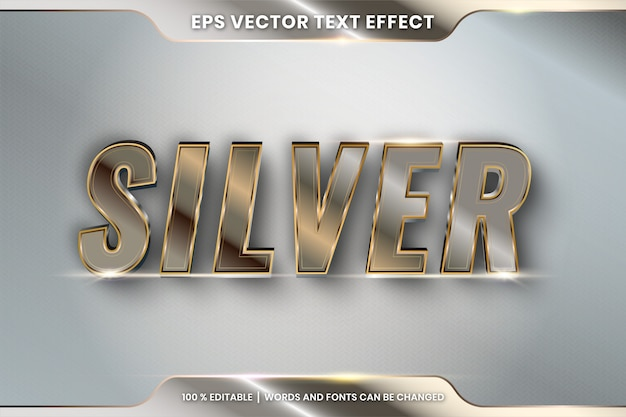 Silver editable text effect