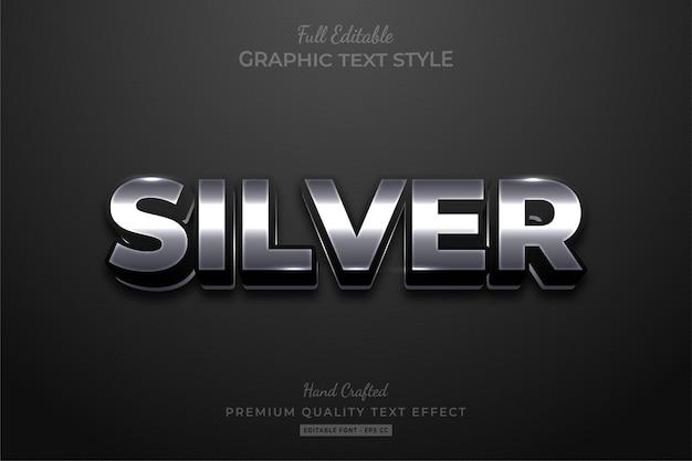 Silver elegant editable text style effect