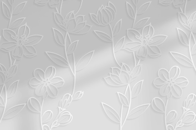 Sfondo motivo floreale argento