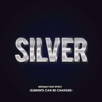 Silver font effect