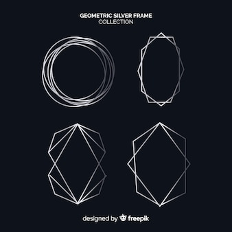 Silver geometric frame collection