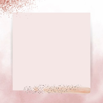 Silver glitter on pink frame vector