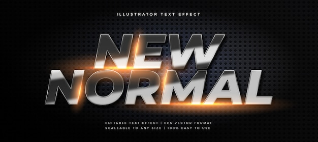Silver glowing text style font effect