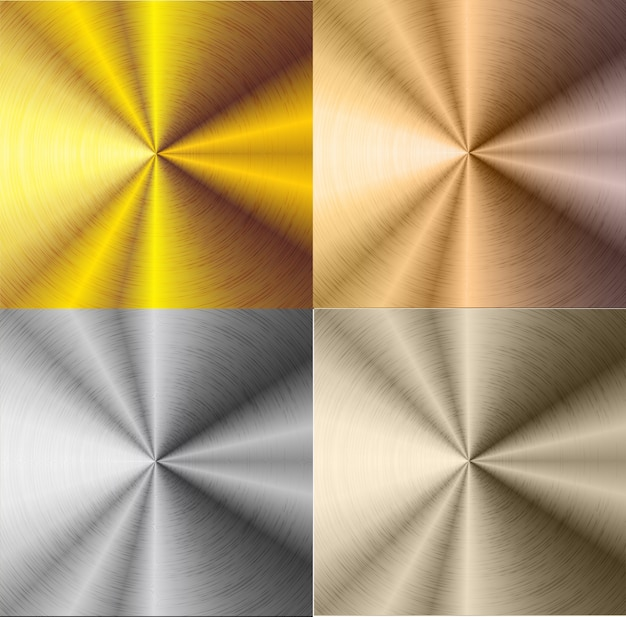 Silver and gold steel gradient background