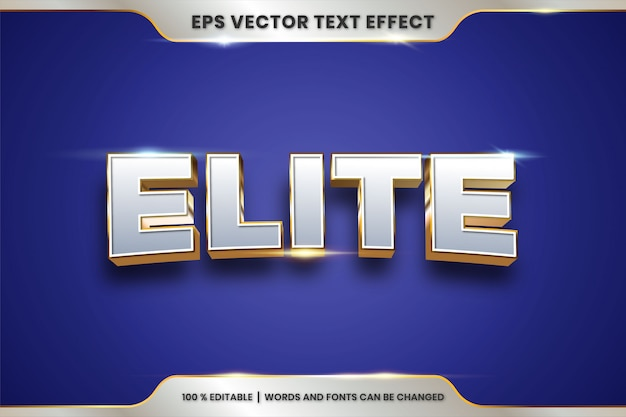 Silver and gold text effect editable