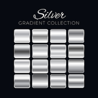 Silver gradient blocks collection