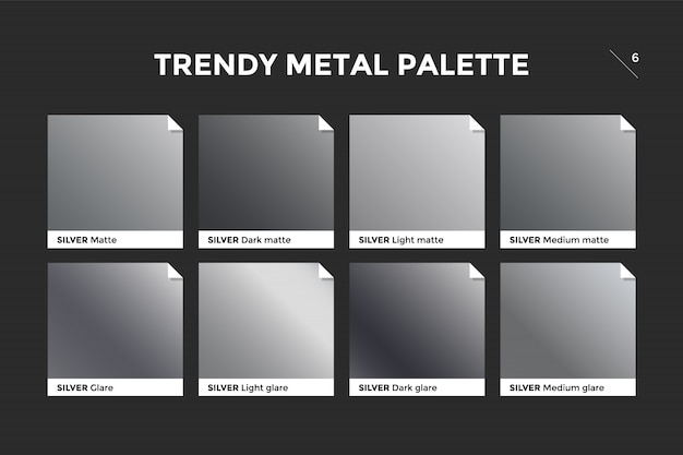 Silver gradient template, vector icon