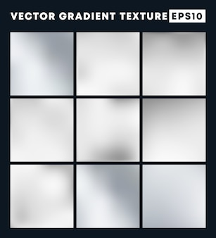 Серебряный градиент текстуры фона набор