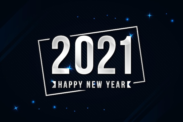 Silver happy new year 2021