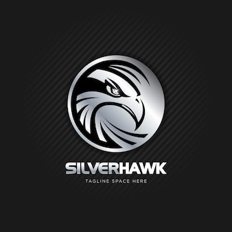 Silver hawk logo design