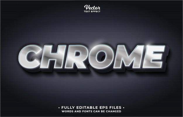 Текстовый эффект серебристого железа хром редактируемый eps cc слова и шрифты могут быть изменены