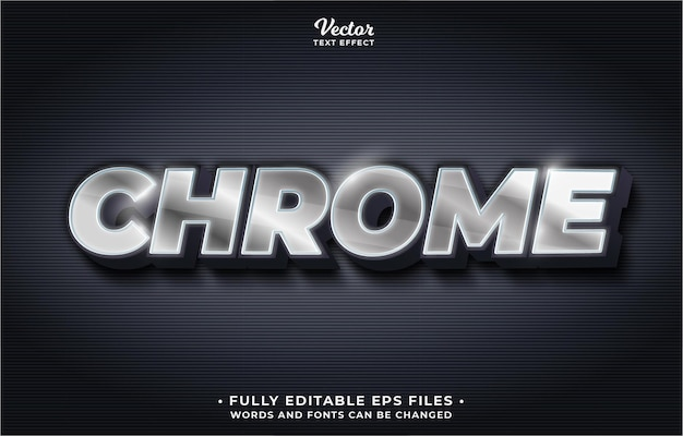 Silver iron chrome text effect editable eps cc words and fonts can be changed