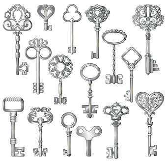 Silver keys set