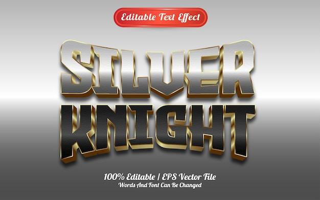 Текстовый эффект серебряного рыцаря