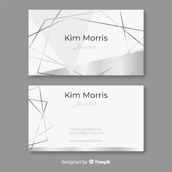 Silver lines business card