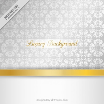 Silver luxury floral background