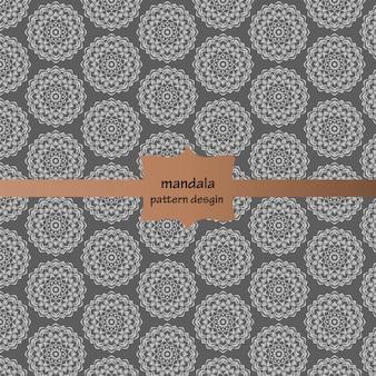 Silver mandala pattern background