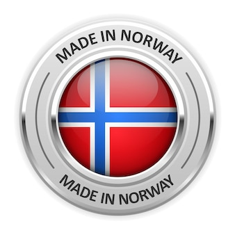 플래그와 함께 노르웨이에서 만든 은메달