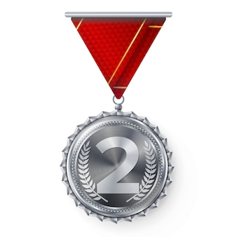 Silver medal, silver 2nd place