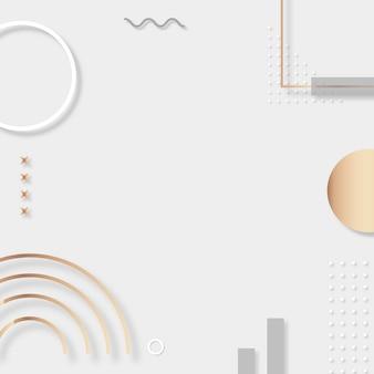 Серебряный монотонный рекламный фон мемфиса в instagram