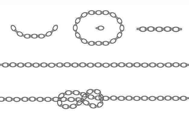 Silver necklace. platinum chain. luxury shiny jewelry.
