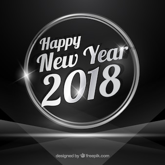 Silver new year 2018 background