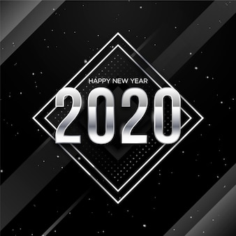 Silver new year 2020 background concept