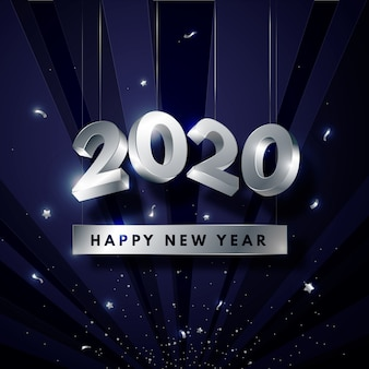 Silver new year 2020 wallpaper