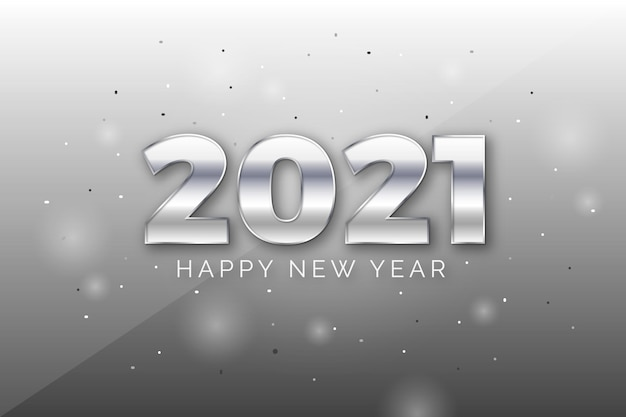 은색 새해 2021 배경