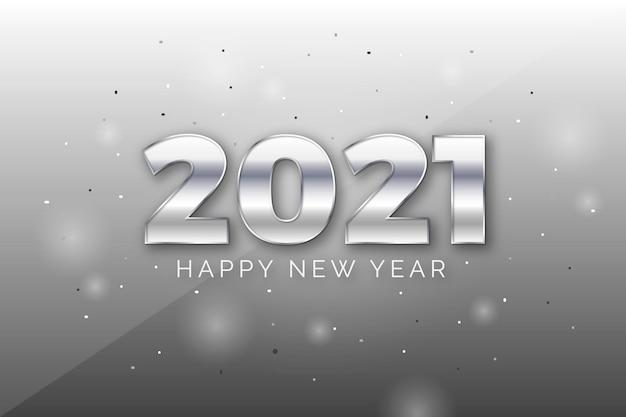 Серебряный новогодний фон 2021