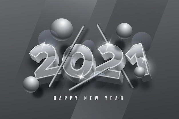 Silver new year background