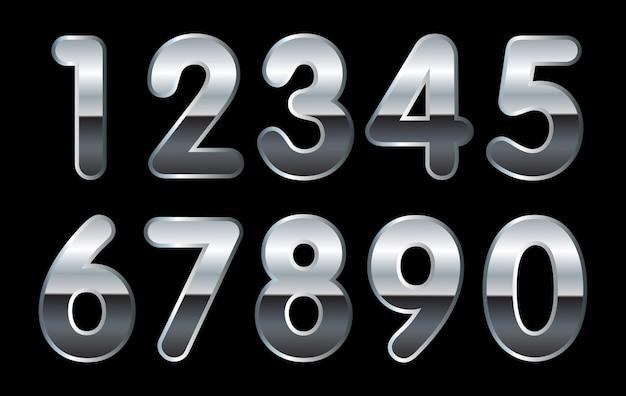 실버 숫자 세트
