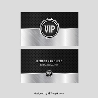 Silver pack of modern vip cards