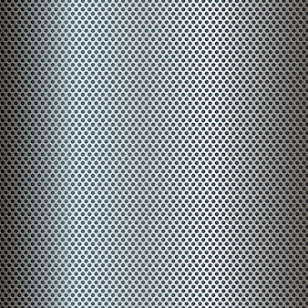 Silver perforated metal texture background