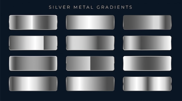 Silver or platinum gradients set