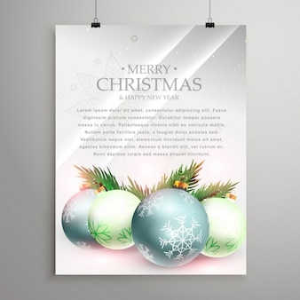 Silver poster, merry christmas