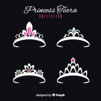 Tiara principessa in argento